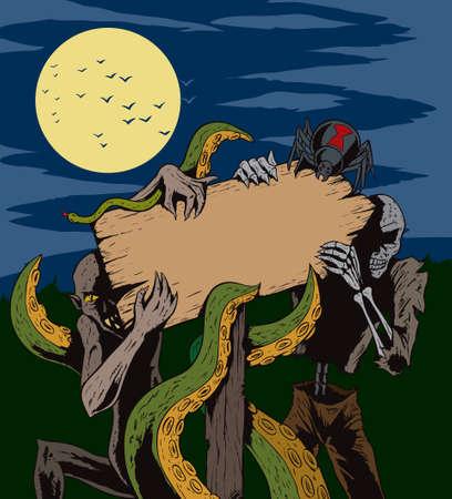 black widow: Monster signpost