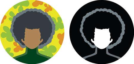 Afro-icon Ilustrace