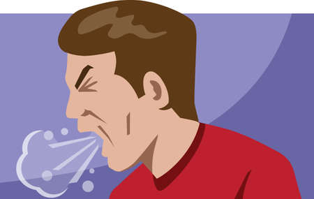 tosiendo: Icono de la tos