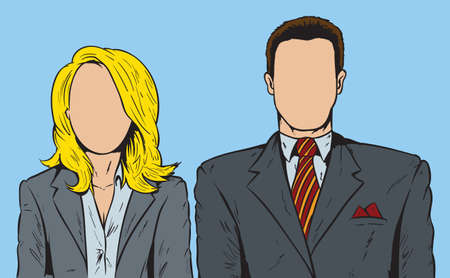 business woman: Faceless people
