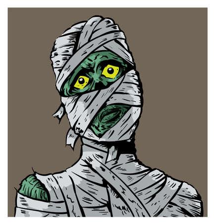Sad mummy Illusztráció