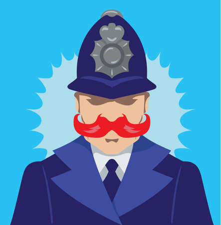 English policeman Illustration
