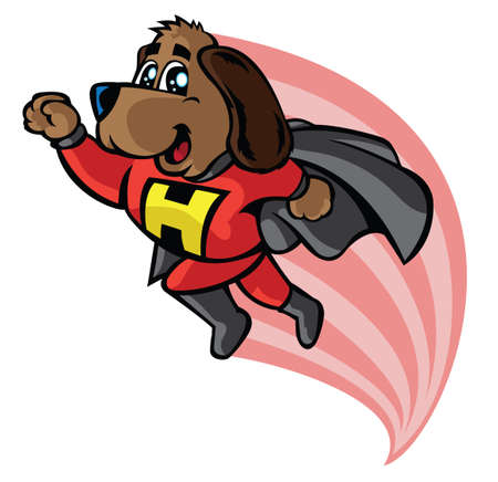 Super hero hound 向量圖像