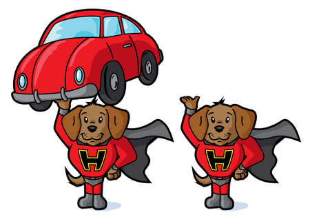 super dog: Super dog and car