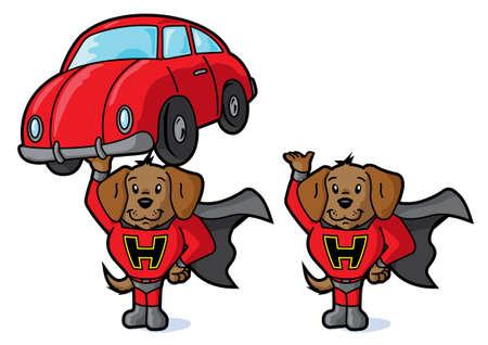 super dog: Super dog and car