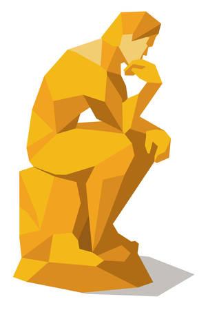 Thinking man squared