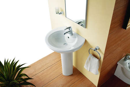 basin: Bathroom Suite  Stock Photo