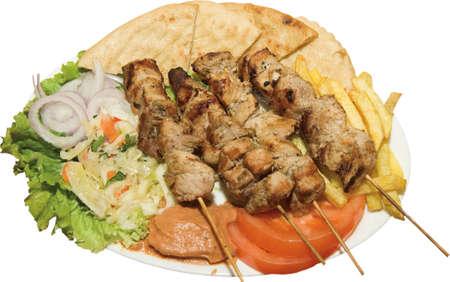 pita bread: Skewered Meat Souvlaki