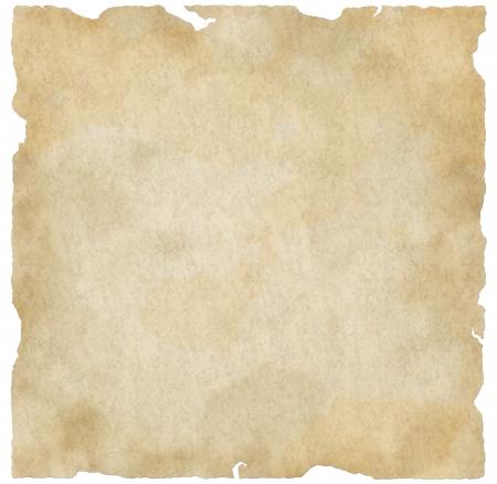 pergamino: Grunge interesante y antiguo dise�o de papel, con ara�azos, bordes rasgados y un degradado final.