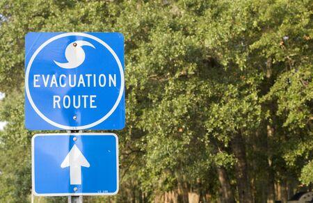 evacuatie: Orkaan evacuatie Route in de zuidelijke Verenigde Staten.