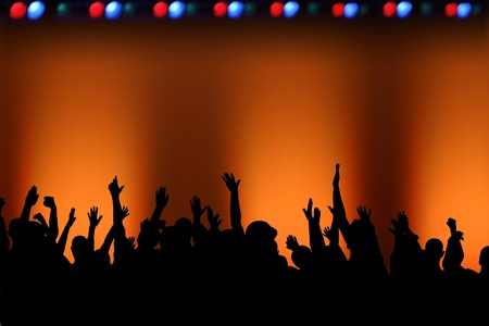 Rock concert concept, with an empty stage and plenty of copy space. Stock Photo - 14177401