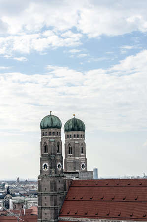 frauenkirche: View of Frauenkirche, Church of Our Lady, Munich, Germany