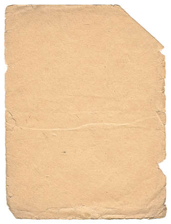 Vintage paper with space for text. Yellowish color. Vertical orient. photo