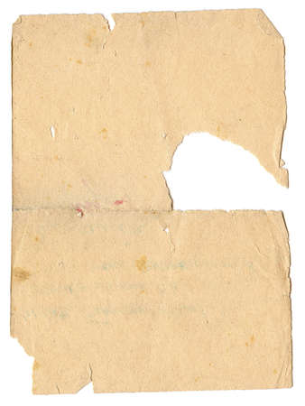 Vintage paper with great damage, soft yellow color. Vertical orient. Stock Photo - 11731242