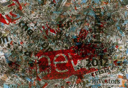 print media: Newspapers words background texture, cuttings
