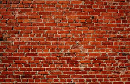 brique: Contexte de la texture de la brique rouge motif mur. Id�al pour les inscriptions de graffitis. Banque d'images