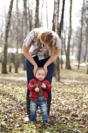 two year old: Young mother and son Stock Photo