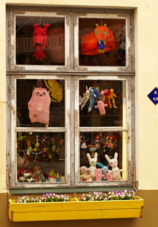 toy shop: Window of the toy shop