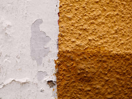 cuttings: White brown yellow ribbing wall background texture  Stock Photo
