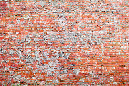 Red brick dirty background  Wide angle view  photo
