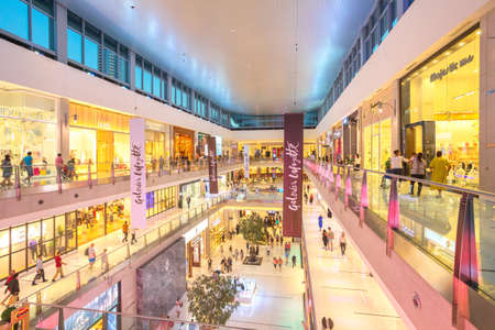 Shoppers in Dubai Mall, the world's largest shopping mall based on total area and sixth largest by gross leasable area