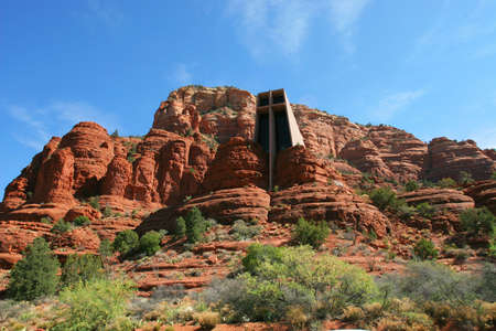 A church built right into the mountain in Sedona AZ. Stock Photo - 2375108