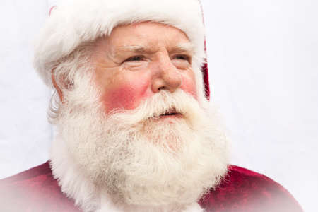 Close up of a very authentic realistic Santa Claus