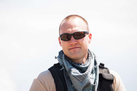 a special forces officer in the hot desert sun