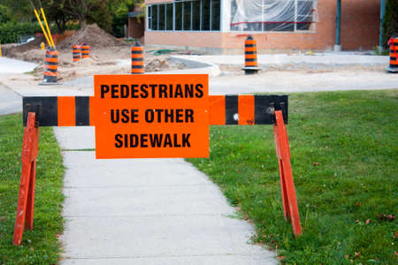 roadwork: It is an inconvenient fact but Summer in Canada means roadwork and construction. Stock Photo