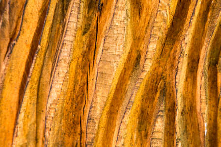 grooves: deep grooves carved with a chainssaw in wood to create a textured background Stock Photo