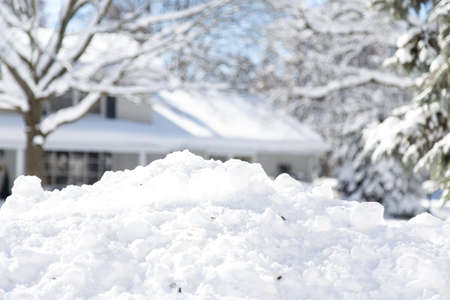 homeowners: homeowners running out of space to pile the snow in suburban neighborhoods
