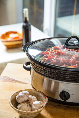 easy prepare ahead meals make slow cooking a favorite in the winter Stock Photo