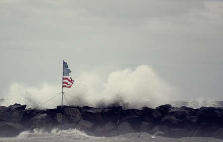 폭풍에 미국 국기