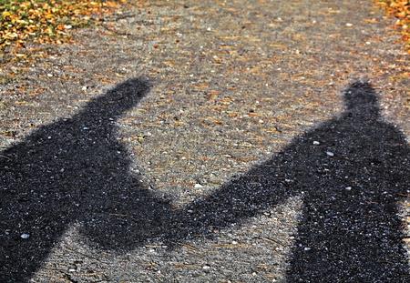 shadow: Shadow Walkers Stock Photo