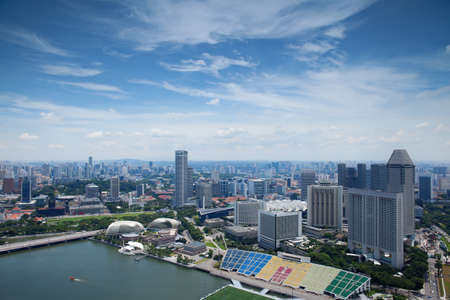 bird s eye view of Singapore photo