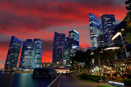Singapore`s downtown Stock Photo - 14939183
