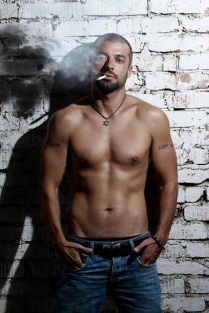 whiff: Smoking addiction Stock Photo