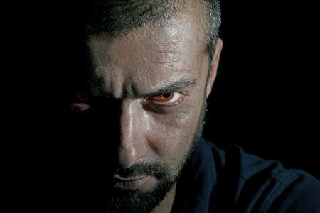 psychopath: Halloween man Stock Photo