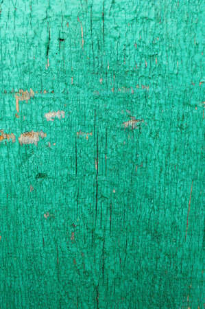 Cracked weathered emerald green shabby chic painted wooden board texture, front view, soft focus Stok Fotoğraf