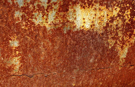 detailed image: Texture of an old rusted metal iron sheet. Detailed rust texture backdrop