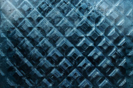 Dense thick window glass texture with rhombus pattern close-up Stock Photo
