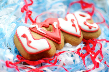 Letter Cookies For Valentines Day Or For A Wedding Day On The ...