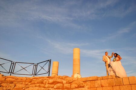 ���archeological site���: couple on archeological site