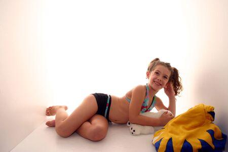 bathing costume: girl