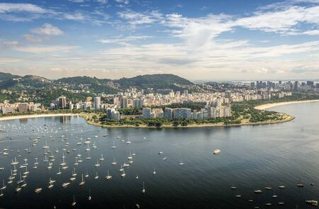 Rio de Janeiro city, Brazil, landscape photo aerial drone view Stock Photo