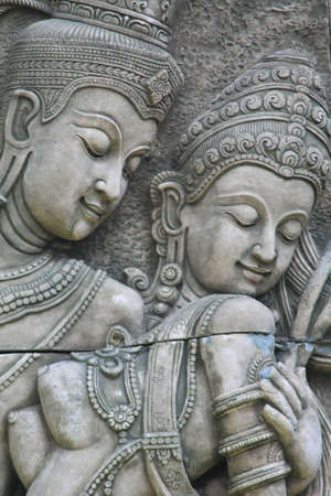 handscraft: Thai ancient sandstone carving