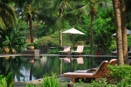 Tropical swimming pool in Thailand