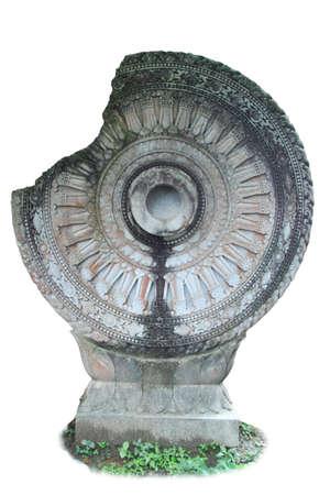 Buddha stone wheel Stock Photo - 14328546