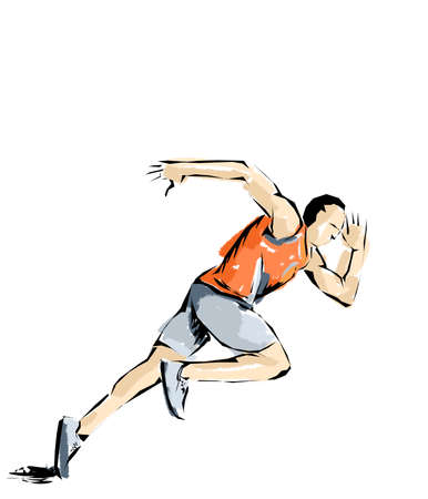 pentathlon: illustration athletics, athlete who practices sports