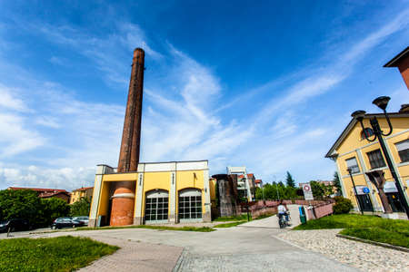 Melegnano in the province of Milan, Lombardy - Italy - during a sunny day and clouds. 10052018 at 3:30 pm in Melegnano, Lombardy, Italy